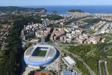 The Anoeta stadium in beautiful San Sebastian.