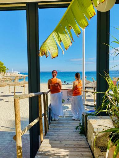 On the beach Bodhana therapists until November.