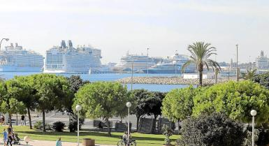 The cruise ships have returned to Palma.