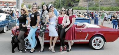 Participants in the Pin Up Girl competition.