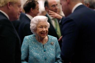 Britain's Queen Elizabeth and members of the Royal Family host a reception for international business and investment leaders at Windsor Castle.