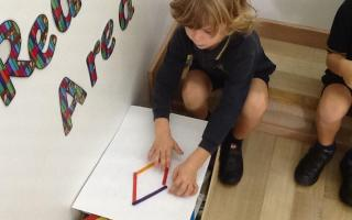 This week the Year 1 children are learning about 2D shapes