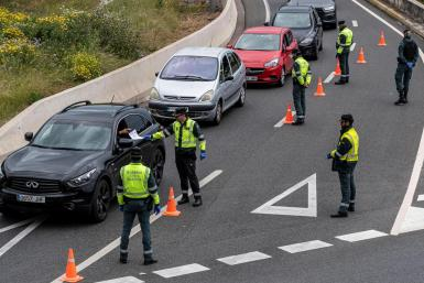 Guardia Civil control during the state of alarm.