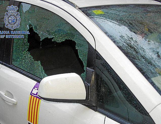 A window smashed.