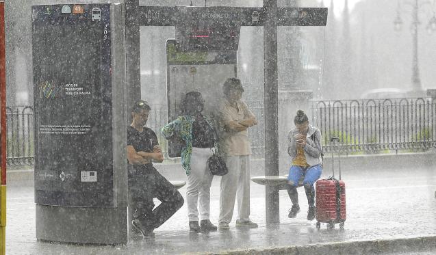 Rain in Palma.