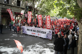 Unions and government march for fair and decent pay