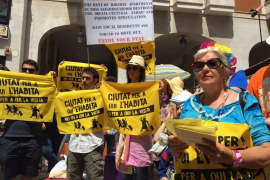 "Protest against ""tourist colonialism"" in Palma"