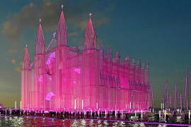Plan for a glass replica of Palma Cathedral