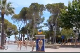 British tourists fined for running naked in Palmanova