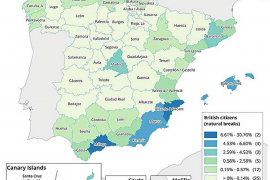 There are twice as many Britons in Spain than Spaniards in Britain