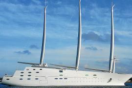 Starck super yacht in the Balearics