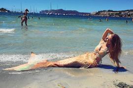Mermaid splashes out in Santa Ponsa