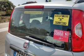 Now it's anti-tourism stickers on hire cars