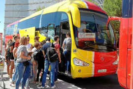 Compensation for resort bus companies which miss targets