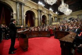 Puigdemont suspends declaration of independence