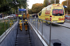 Palma metro evacuated after train fire