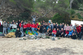 820 kilos collected in final beach clean-up of the year