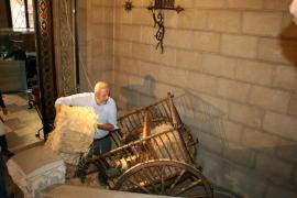 Council president creates the nativity scene