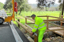 Increased safety for dry-stone route between Lluc and Pollensa