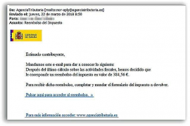 Tax Agency warning of income declaration email scam