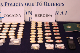 Drugs mule arrested for carrying a kilo of narcotics