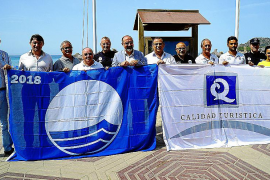 Calvia flies its blue flags