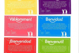Cards with Catalan words for tourists