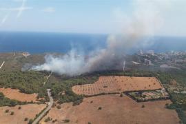 Fire near Calas de Mallorca