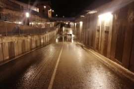 Police rescue woman trapped by tunnel flood