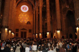 Cathedral's magical light shines once more