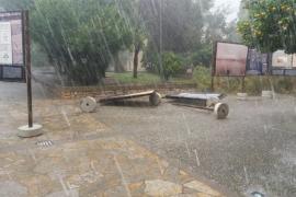 "Damage caused by Pollensa ""tornado"""