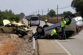 Ten fewer road deaths in the Balearics