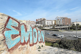 Removal of Palma graffiti will wait until the summer
