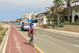 Still no barriers for Sa Rapita bike lane
