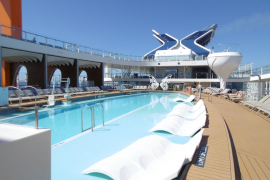 The world's coolest cruise ship docks in Palma