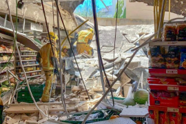 Injuries after supermarket roof collapses