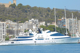 One of the largest superyachts in the world in Palma