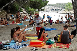 Posidonia information campaign at Calvia beaches