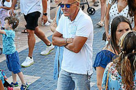 Dieter Bohlen was pictured at Andratx fiestas