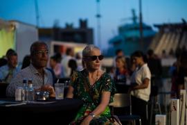Annie Lennox enjoys views over Palma