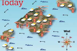 Tuesday's weather in Majorca
