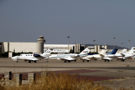 Decrease in number of private jets because of competition