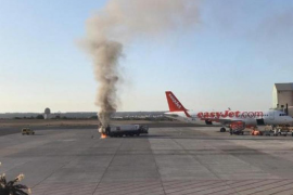 Fire at Palma airport