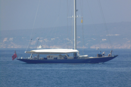The 'Endeavour', a mythical sailboat from the 1930s, in Palma