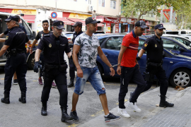Illegal immigrants at Police Headquarters Palma