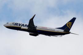 A Ryanair commercial passenger jet