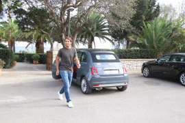 Rafael Nadal leaving the restaurant.