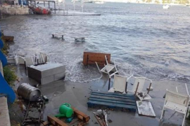 Freak storm causes serious damage to Puerto Andratx