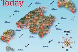 Today's weather and webcams around Majorca