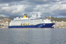 One of the most modern cruise ships in the world visits Palma